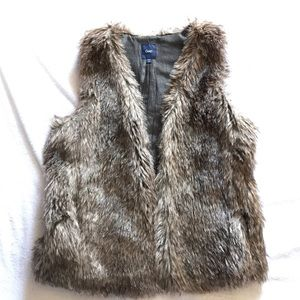 Gap faux fur vest.