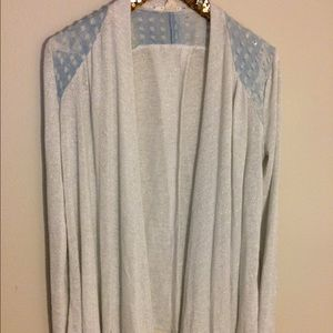 Very J Sweaters - Very J sparkle open cardigan with split back large