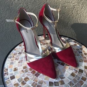 Shoemint Shoes - 🇺🇸Shoemint red w/champagne strappy heels 👠