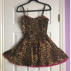 Material Girl Dresses & Skirts - Leopard print mini dress