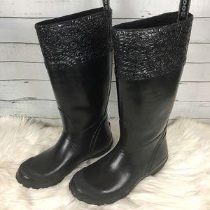 Bogs Anne tall black rain boots rubber waterproof