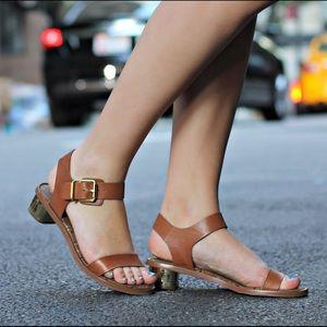 Sam Edelman Trina leather sandal gold heel