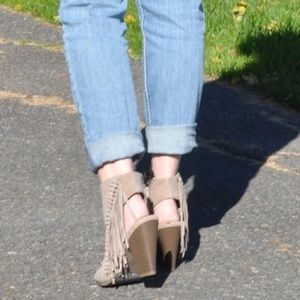 Rampage Shoes - Fringe booties