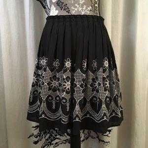 Anthropologie Weston Wear Embroidered Skirt SZ S