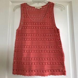 Coral crochet tank top!