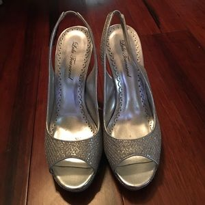 Lulu Townsend Shoes - Silver Pumps..great for a formal dress or social