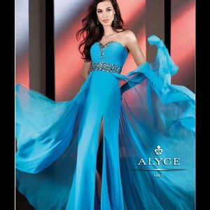 Alyce Paris Dresses & Skirts - NWT Turquoise Formal Gown Size 10 by Alyce