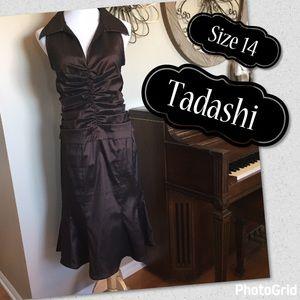 Tadashi Shoji Dresses & Skirts - Tadashi Size 14 MOB or Cocktail Dress - Dark Brown