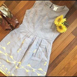 Esley Dresses & Skirts - Grey & Yellow Esley Dress With Pockets