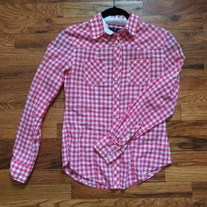 GAP Tops - Gingham button up shirt