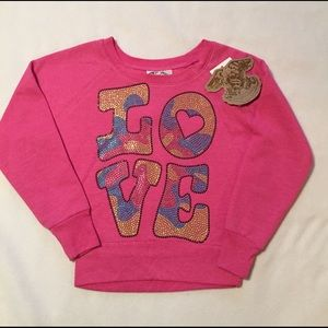 "Signorelli Other - Girls 5/6 top pink long sleeve ""love"""