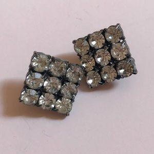 Vintage Jewelry - Vintage Statement Rhinestone Earrings