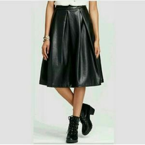 who what wear Dresses & Skirts - Faux leather skirt