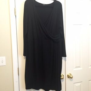 Talbots Dresses & Skirts - Talbots Wool Blend Faux Wrap Dress