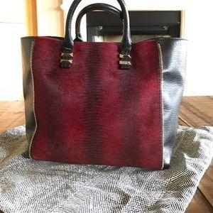 Rebecca Minkoff leather satchel tote black