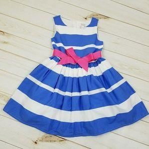 Children's Place Other - The Children's Place Blue/Wht Striped Dress, Sz 5