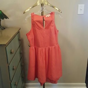 Dresses & Skirts - Salmon cotton dress