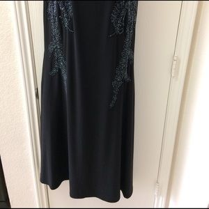 Adrianna Papell Dresses - Adrianna Papell Bead Black Dress Gown Size 8