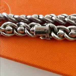 0db5dd43f31 Hermes Jewelry - Hermes Paris Solid Heavy Silver Link Bracelet