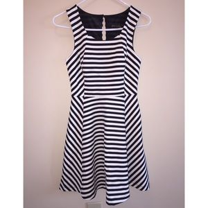 Express Black and White Stripe Dress.