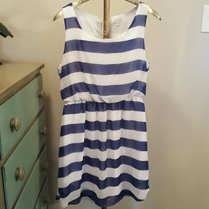 Dresses & Skirts - Blue striped dress