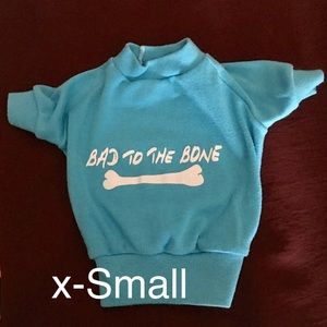 Other - Pet Tee Shirt Size X-Small Bad To The Bone Blue