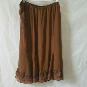 Bob Mackie Dresses & Skirts - Bob Mackie brown sequin design skirt