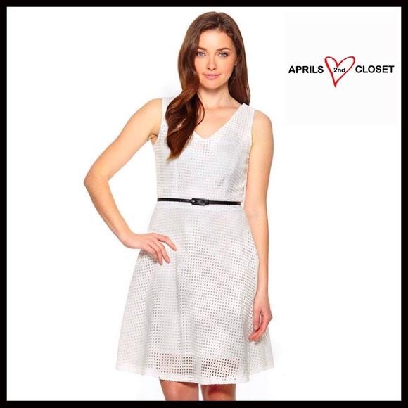 50 Off Sharagano Dresses Amp Skirts Sharagano White