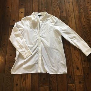 Top shop white long sleeve blouse w/ cropped back