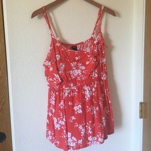Red summer top- Torrid- Size 2
