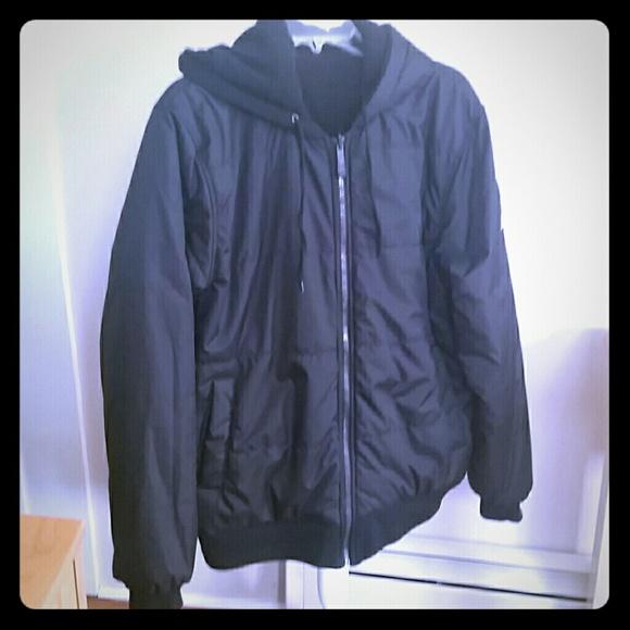 Zeroxposur Jackets Amp Coats Mens Black Reversible Hooded