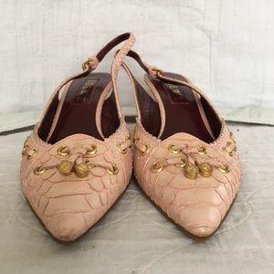 Loewe Shoes - Loewe Blush Pink Slingbacks