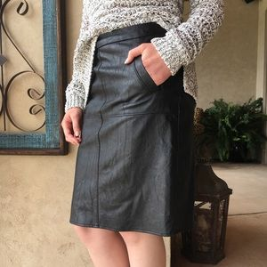 CAbi Skirts - Cabi size 4 black faux leather pencil skirt