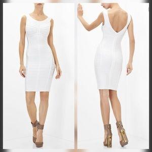 Herve Leger Dresses & Skirts - Herve Leger White Alabaster Ysabel Bandage Dress