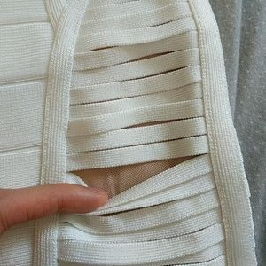 Herve Leger Dresses - Herve Leger White Alabaster Ysabel Bandage Dress