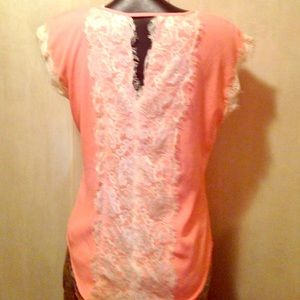 SOULMATES CORAL AND CREAM SZ MEDIUM 100  polyester