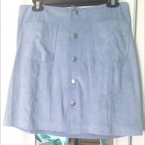 belle sky Dresses & Skirts - Suede button skirt
