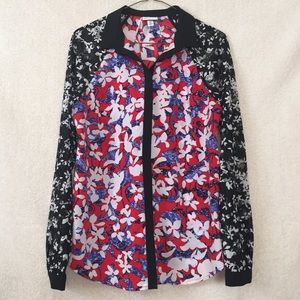 Peter Pilotto for Target Tops - Peter Pilotto for Target Floral Multi Print Shirt