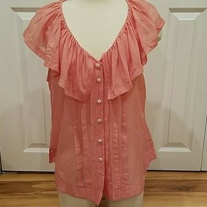 Anthropologie Tops - ANTHROPOLOGIE PINK SLEEVELESS TOP