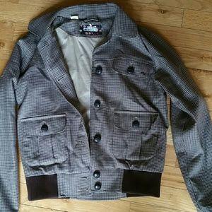 Ben Sherman- Plaid bomber jacket