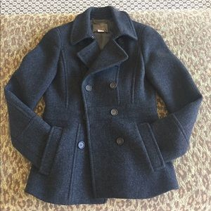 J. Crew Stadium Cloth Peacoat