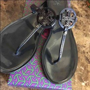Tory Burch Shoes - Tory Burch Mini Miller Jelly Thong with Crystals