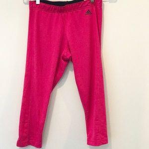 adidas pink Capri workout leggings