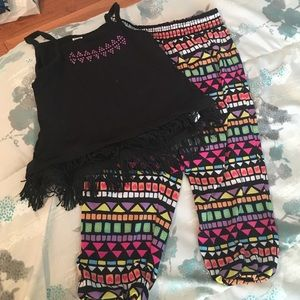 Amy Coe Other - Amy Coe black fringe top and matching pants