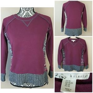 Purple Sweater by Kaisely from Macy's Size XS