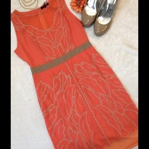 Ryu Dresses & Skirts - 🦊NWT Ryu Coral Scalloped Sleeveless Dress