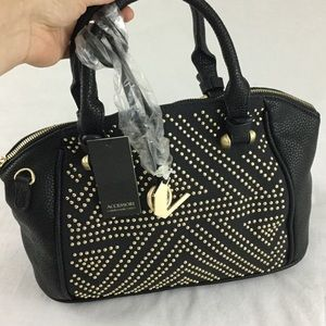Carmen Marc Valvo Handbags - Black studded Satchel, NWT