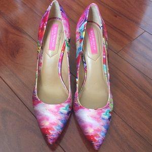Isaac Mizrahi watercolor spring heels 