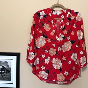 Katherine Barclay  Tops - Beautiful red, floral top