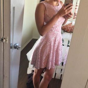 Dresses & Skirts - Mini Pink Sequin Dress